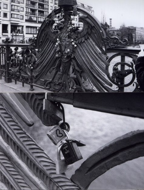 Freidrichstrasse, Locks on Bridge - Alannah Messett Photography