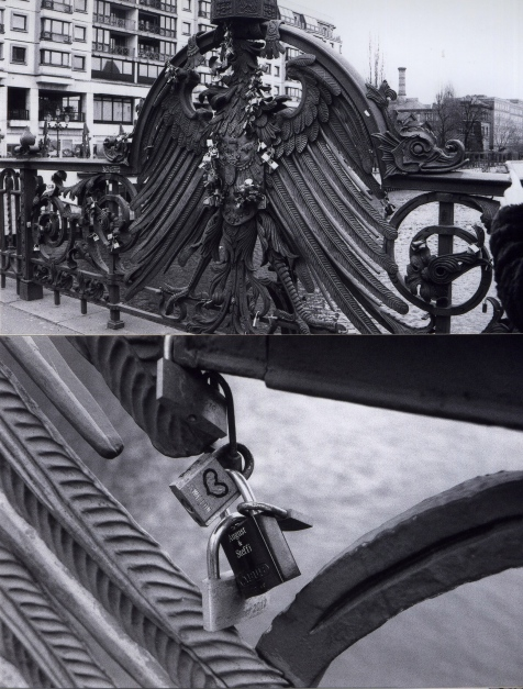 Freidrichstrasse, Locks on Bridge - Alannah Messett Photography