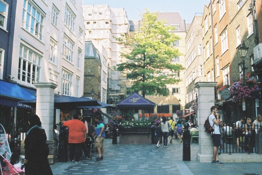 Exploring St Christopher's Place.