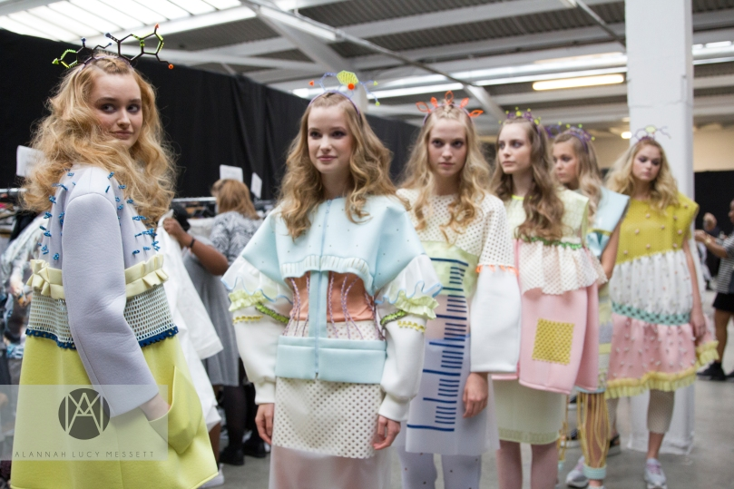 Graduate Fashion Week 2015 - Behind The Scenes at Nottingham Trent University's show in Yeni Park's designs