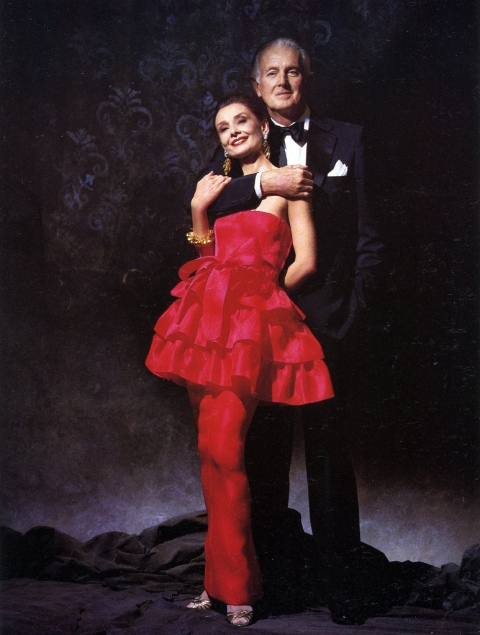 A life long friendship - Audrey with Hubert de Givenchy, photographed by Victor Skrebneski, 1986.
