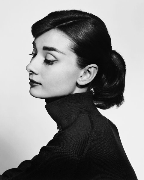 Audrey in Paramount Studios, Hollywood, by Yousuf Karsh, 1956.